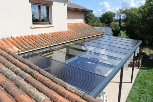 Solaire photovolta que for Panneau de couverture de veranda